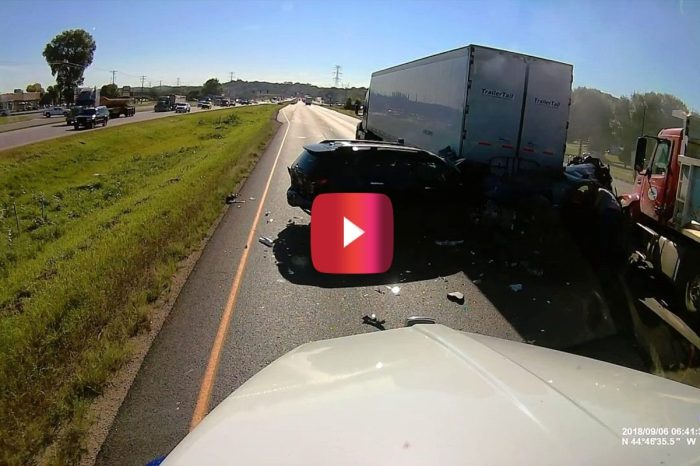 Dump Truck Plows Into Cars in Highway Crash