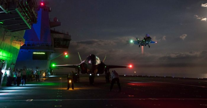 The Danger of Landing a Fighter Jet at Night