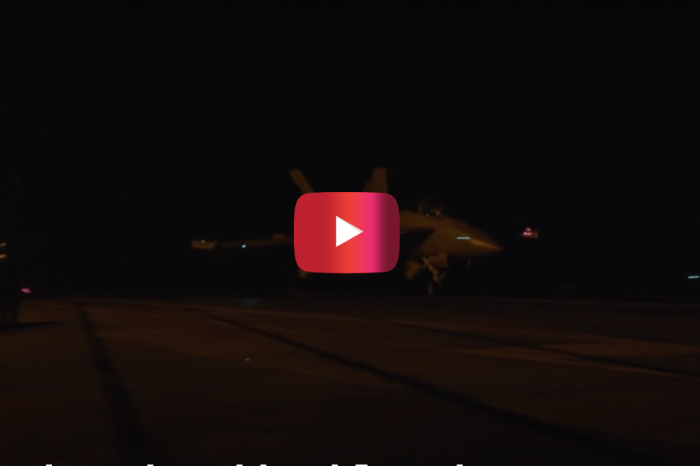 This Fighter Jet Night Landing Is Scary Stuff