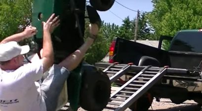 lawn tractor loading fail