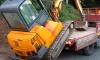 mini digger truck loading no ramp