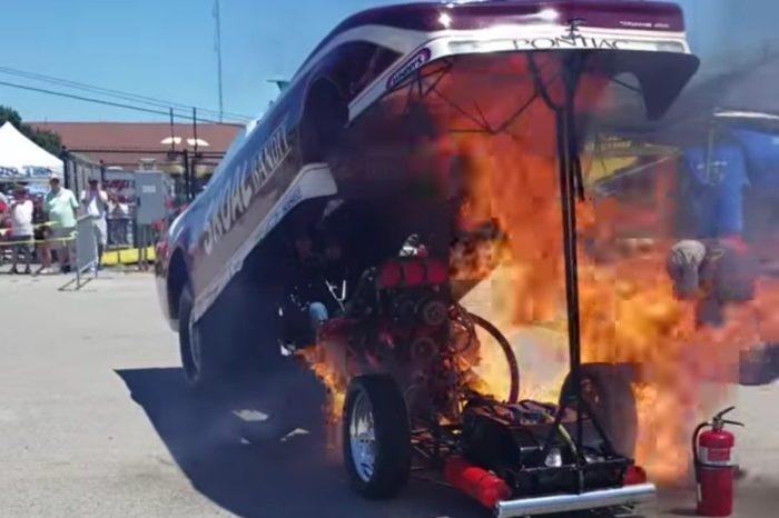 Pontiac Trans Am Bursts Into Flames During Car Show
