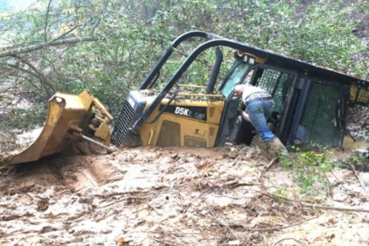 stuck bulldozer