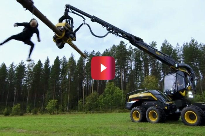 "Finland's Version of ""Jackass"" Does Wild Forest Machine Rodeo Stunt"