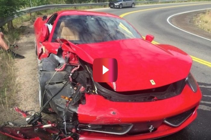 Speeding Schmuck Totals $300K Ferrari
