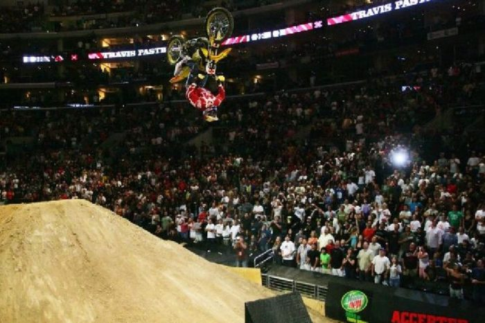 Travis Pastrana Lands Double Backflip in Iconic X Games Moment