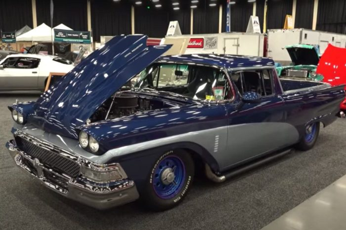 '58 Ford Pickup Gets Customized to Look Like Drag Car