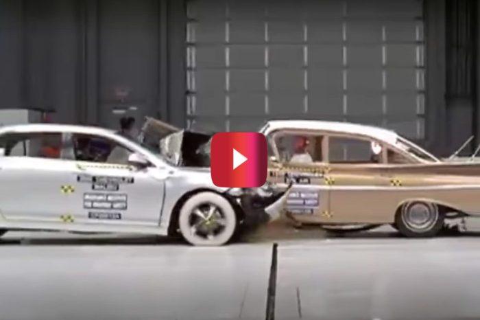 Chevy Crash Test Pits 1959 Bel Air Against 2009 Malibu