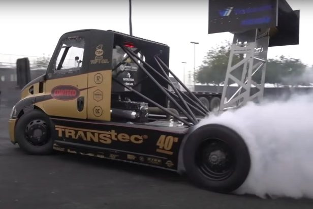 2,400-HP Semi Truck Shreds Rubber in Stunt Driving Session