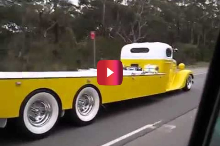 This '35 Chevy Tow Truck Was Caught Cruising on Video