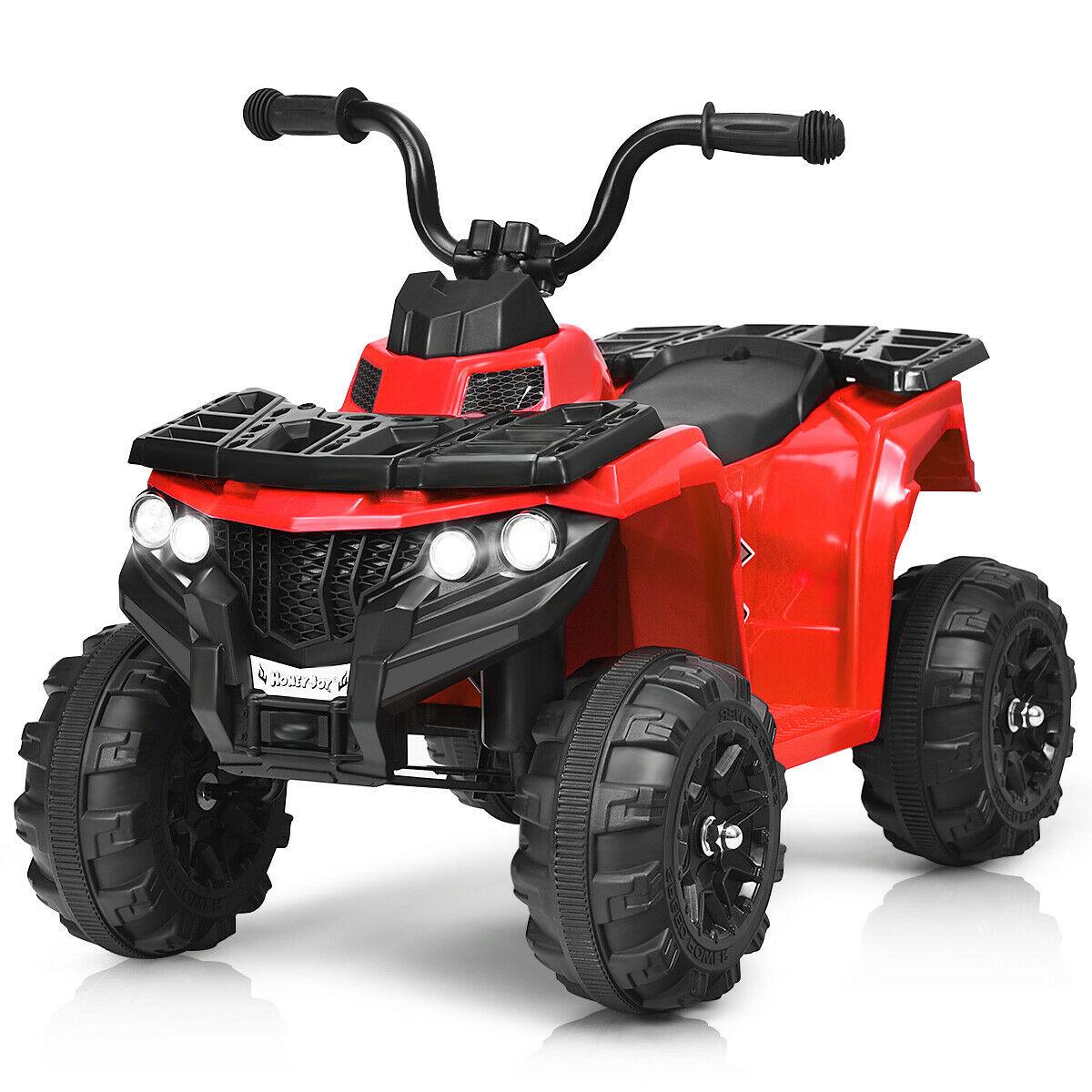 Gymax 6V Battery Powered Kids Ride On ATV 4-Wheeler Quad w/ MP3 & LED Headlight Red