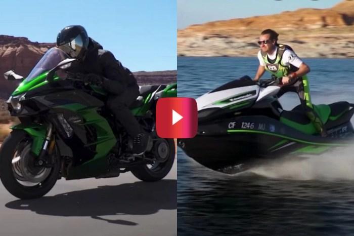 Motorcycle vs. Jet Ski in the Ultimate Kawasaki Race