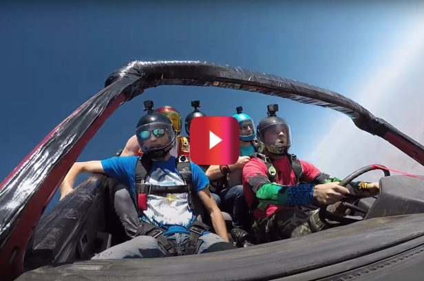 Skydiving in a Car? These Guys Did That!