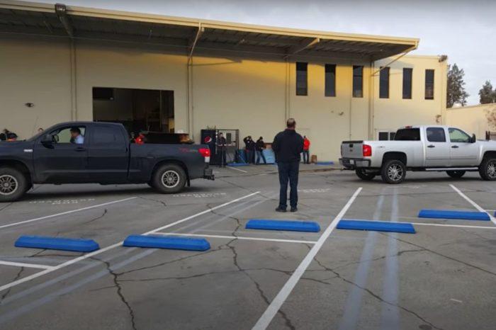 Chevy Duramax vs. Toyota Tundra in Truck Tug of War