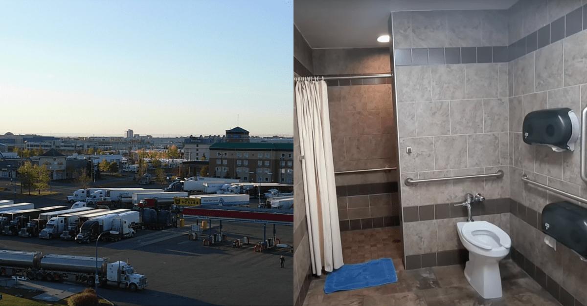 truck stop showers