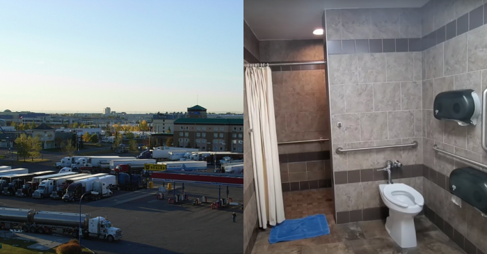 What Is a Truck Stop Shower Really Like?