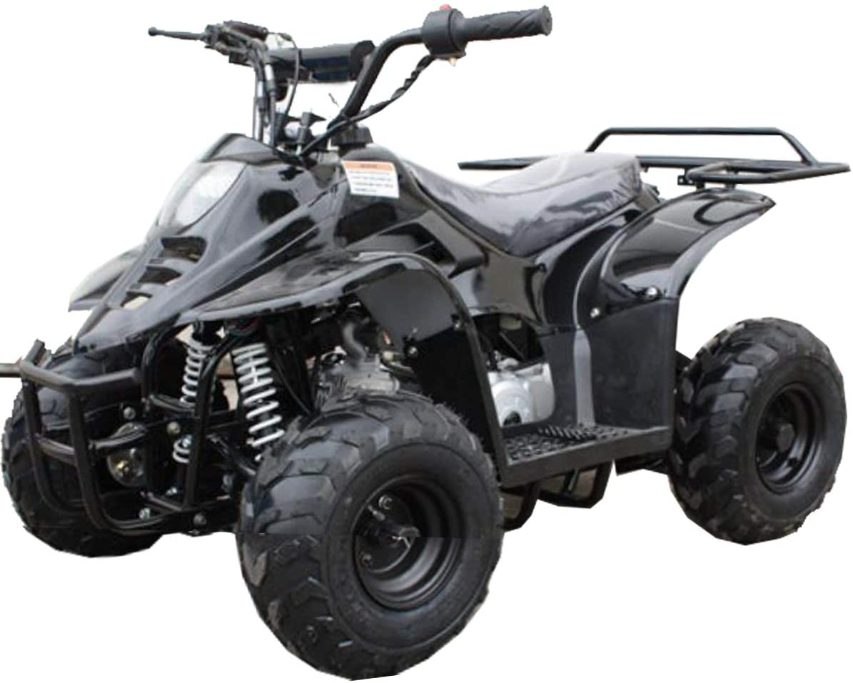 X-PRO 110cc ATV Quads Youth ATV Kids Quad ATVs 4 Wheeler (Black)