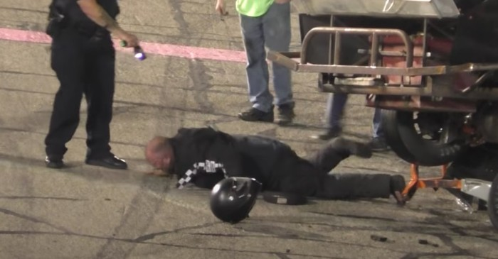 Driver Gets Tased, Handcuffed During Racetrack Fight