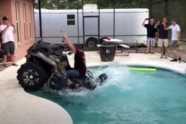 Florida Man Drives ATV Into Pool, and Doesn't Spill a Drop of Beer