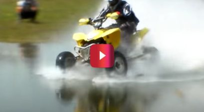 atvs and motorcycle water crossing
