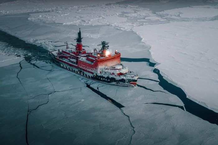 You'll See Why This 75,000-HP Ship Is Called an Icebreaker