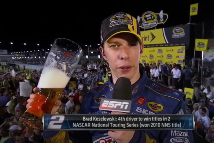 Brad Keselowski Gets Drunk During Post-Championship Interview in 2012