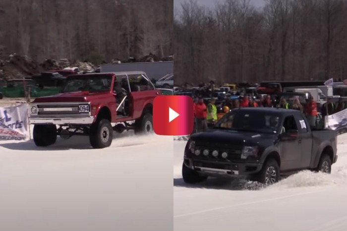 Classic Chevy Dominates New Ford in Snow Challenge