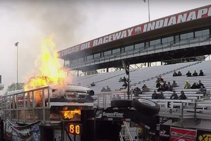 Chevy Silverado Explodes Into Giant Fireball on the Dyno