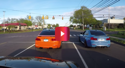 cop pulls over bmw m3 street race