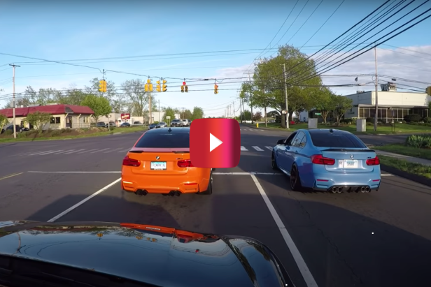 Street Racers Hit the Gas, Get Pulled Over by the Cops Just Seconds Later