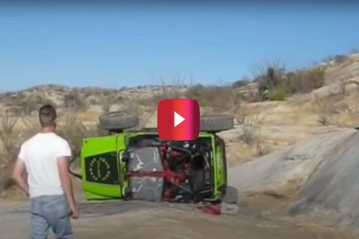 jeep passenger avoids off-roading fail