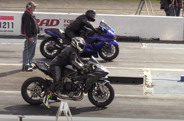 Kawasaki Motorcycles Go Head-to-Head in Epic Drag Race