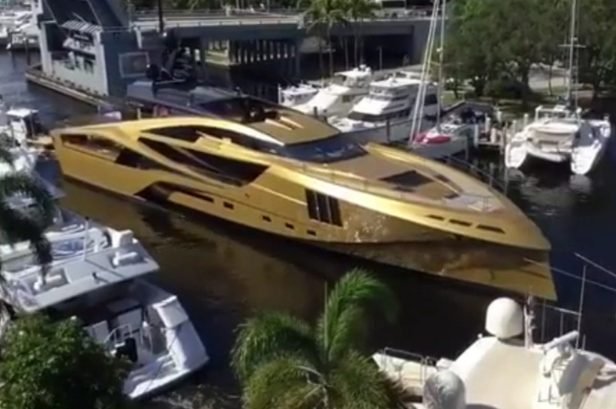 This Gold Superyacht Costs More Than $30 Million and Has Tons of Sweet Amenities