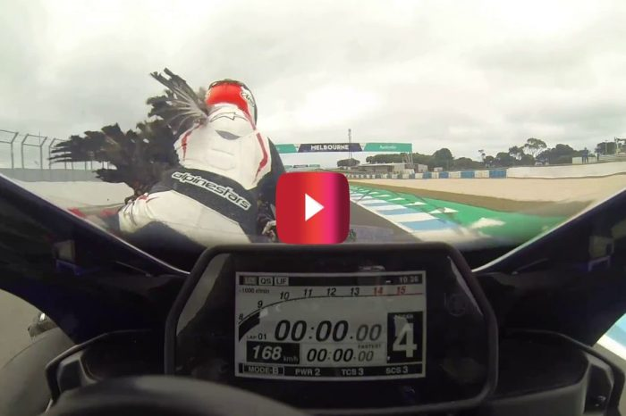 Motorcycle Racer Gets Nailed by Giant Goose at 115 MPH