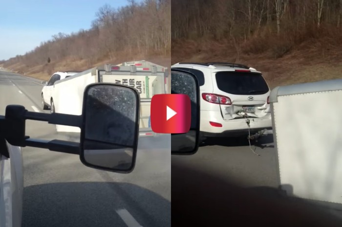 Driver Drags U-Haul Trailer in Embarrassing Towing Fail