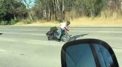360-degree motorcycle crash