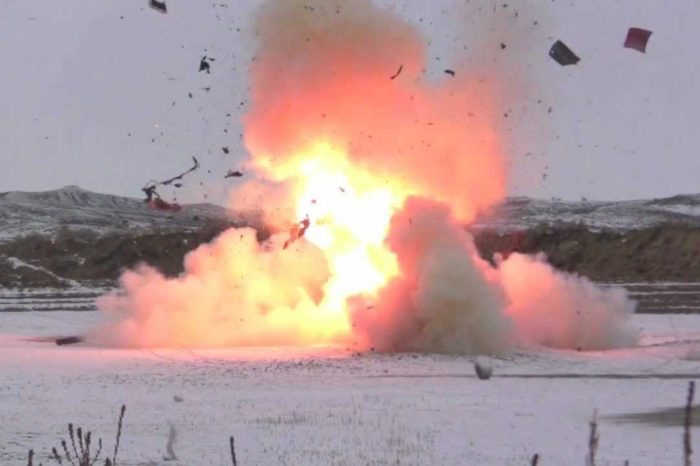 50 Pounds of Tannerite Blows Up '94 Chrysler LeBaron