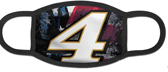 Checkered Flag 2019 Nascar Kevin Harvick #4 Navy Unisex Fashion Face Bandanas Head Band Wears Scarf Face Tube Neck Scarf