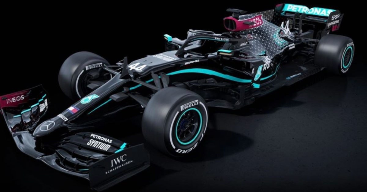 all-black F1 car