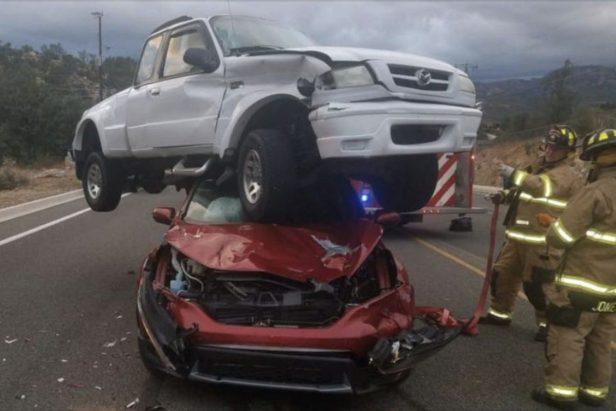 Wild Highway Car Crash Leaves First Responders Completely Baffled