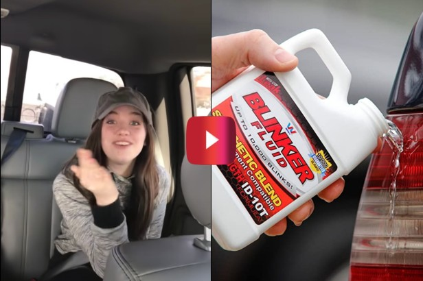 Dad Hilariously Tricks Daughters Into Trying to Buy Blinker Fluid