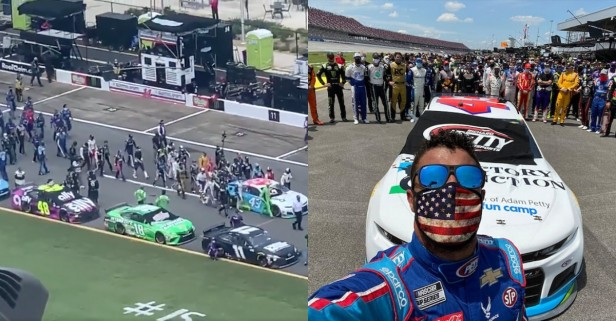 NASCAR Drivers Rally Behind Bubba Wallace in Emotional Pre-Race Moment