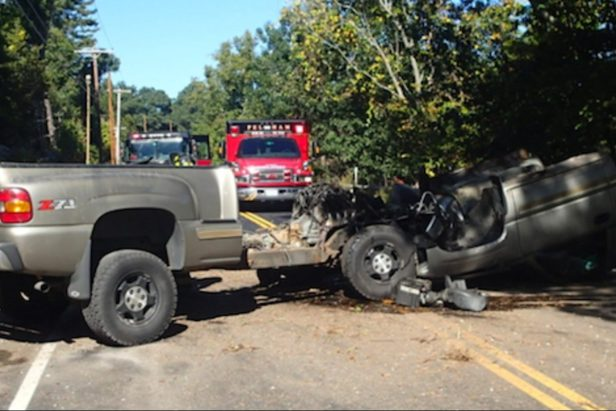 Chevy Truck's Cab Completely Separates From the Frame in Unexplainable Accident