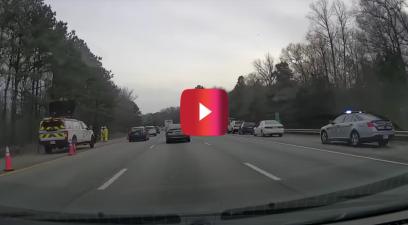 cop pulls over 8 impatient drivers