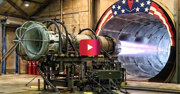 F-16 Jet Engine Gets Tested at Full Afterburner