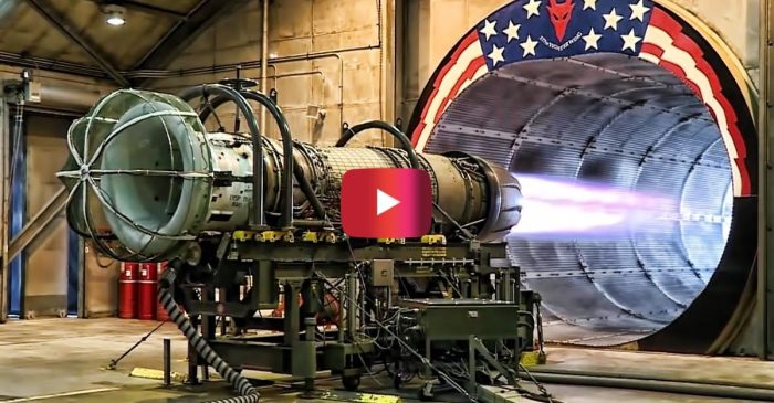 F-16 Jet Engine Gets Tested at Full Afterburner