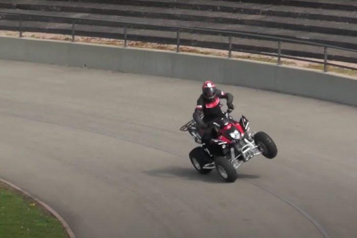 ATV Rider Breaks World Record With Epic Side Wheelie Stunt