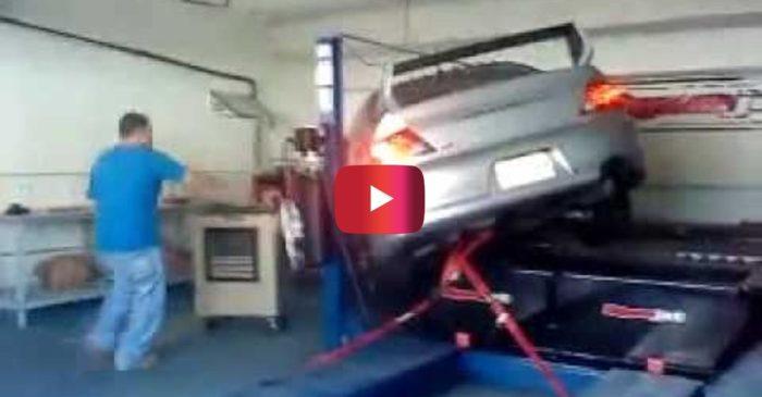 Mitsubishi Evo Falls off Dyno During 450-HP Run