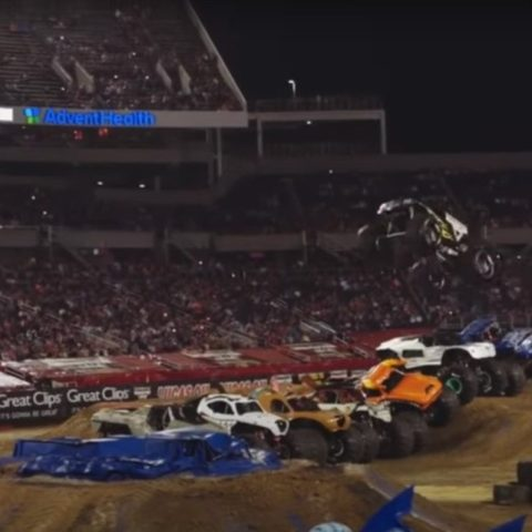 monster truck record jump