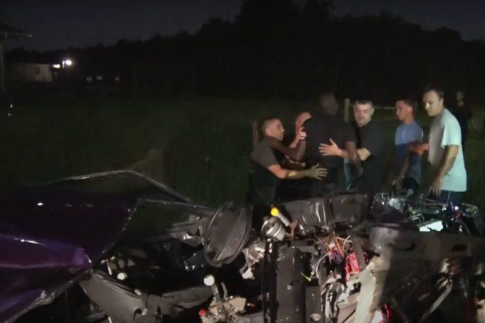 Mustang Gets Split in Half, and Street Racer Miraculously Walks Aways